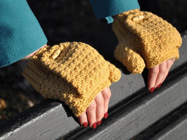 Crochet Fingerless Gloves Pattern by HanJan Crochet