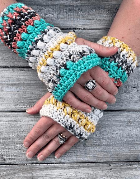 Crochet Fingerless Gloves Pattern by Avery Lane Creations