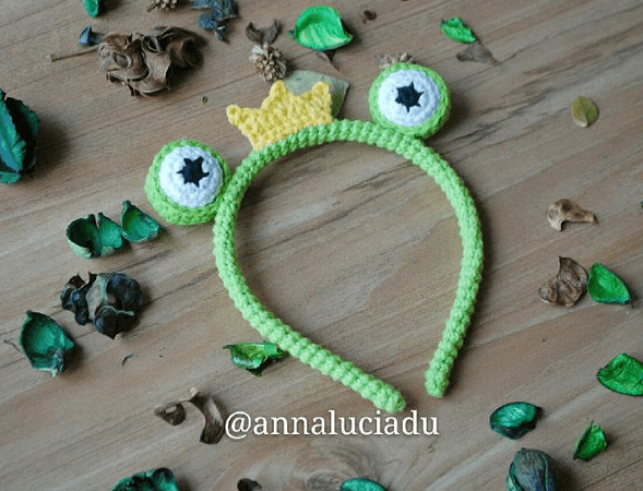 Crochet Frog Headband Pattern by Emma Crochet Design 4 U
