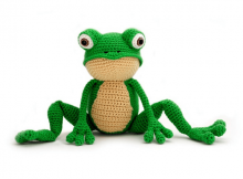 Crochet Frog Pattern by Yuki Yarn Designs