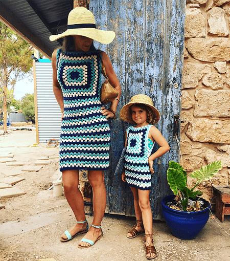 Crochet Granny Square Dress Pattern by Snakewood & Grace