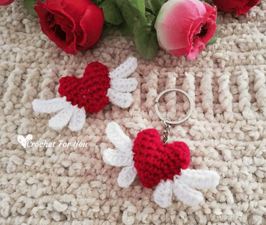 Crochet Heart Angel Pattern by Crochet For You