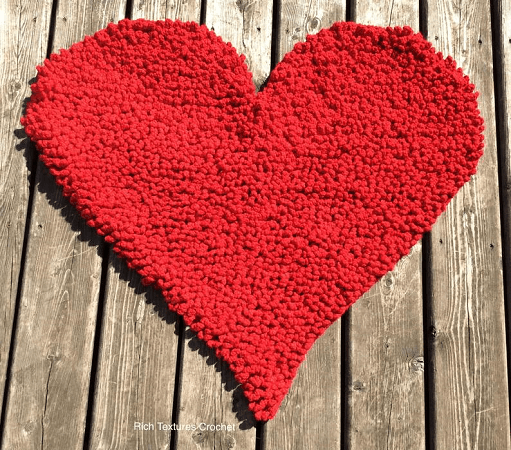 Crochet Heart Mat Pattern by Rich Textures Crochet