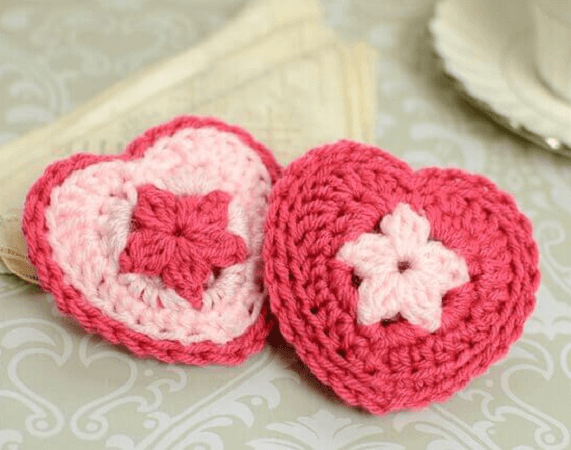 Crochet Heart Sachet Pattern by Petals To Picots