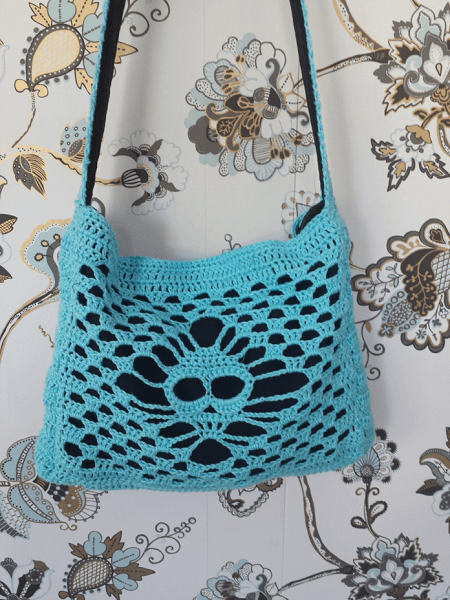Crochet Lace Skull Bag Pattern by Stitches And Supper