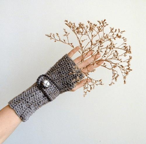 Crochet Long Fingerless Gloves Pattern by Ana D Design