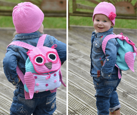 Crochet Owl Backpack Pattern by Vi Talina Craft