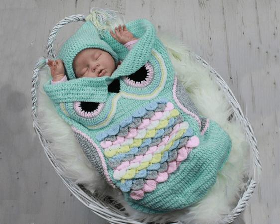 Crochet Owl Cocoon Pattern by Shi Fio
