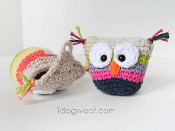 Crochet Owl Pouch Pattern by One Dog Woof