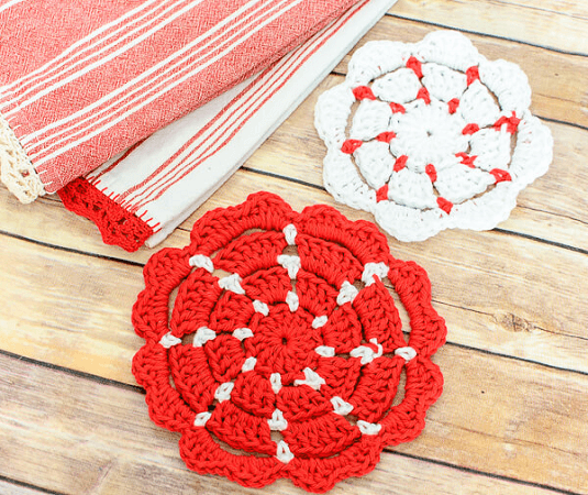 Crochet Pot Holders Pattern by Petals To Picots