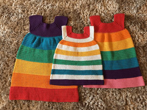 Crochet Rainbow Dress Pattern by Emily Keenan