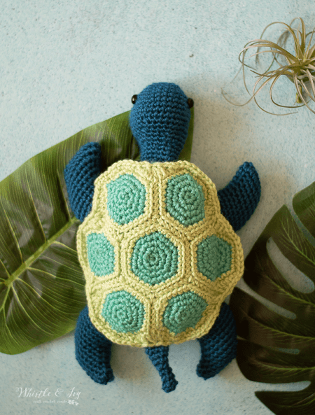Crochet Sea Turtle Pattern by Whistle And Ivy