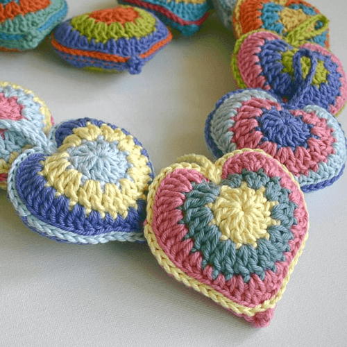 Crochet Stuffed Heart Pattern by Wool N Hook