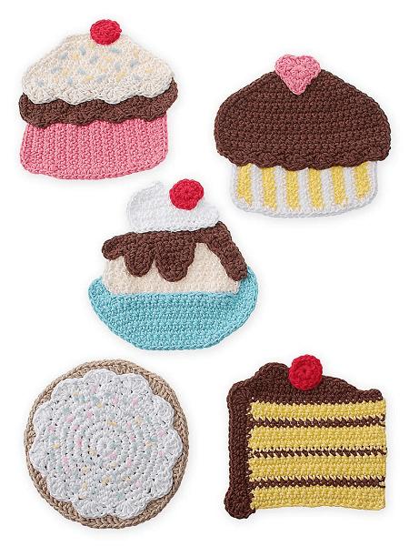 Crochet Sweet Treats Potholders Pattern by Gourmet Crochet