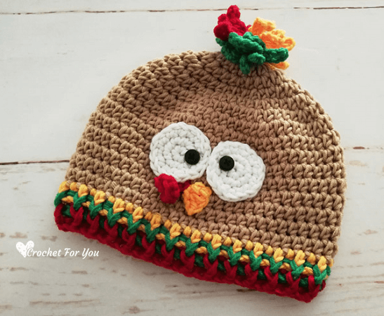 Crochet Turkey Hat Free Pattern by Crochet For You