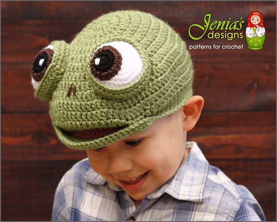 Crochet Turtle Hat Pattern by Jenia's Designs