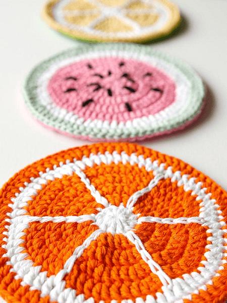 Crochet Tutti Frutti Potholder Pattern by Wink