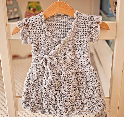 Crochet Wrap Dress Pattern by Mon Petit Violon