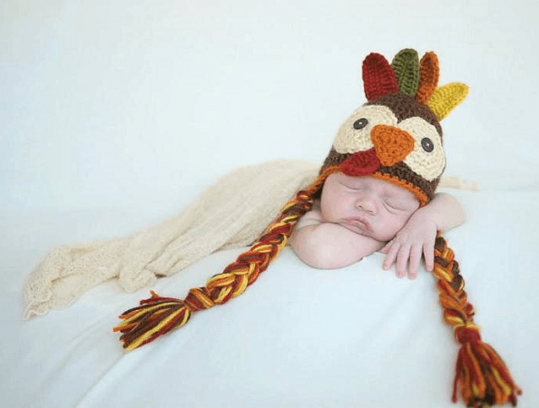 Crocheted Turkey Hat Pattern by 12 Twenty Two Designs