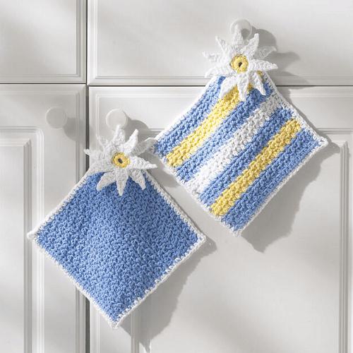 Daisy Potholders Crochet Pattern by Yarnspirations