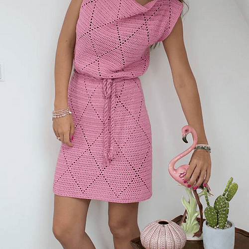 Diamond Dress Crochet Pattern by Just DD Design