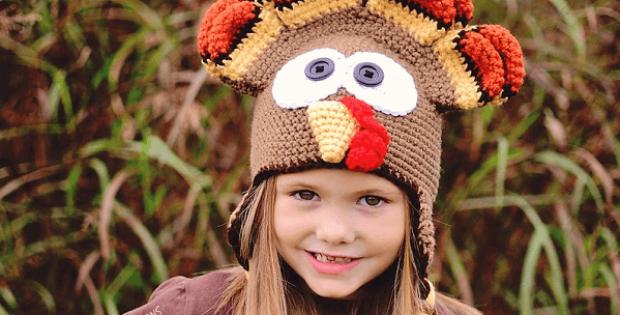 Dindon, The Turkey Hat Crochet Pattern by Ira Rott Patterns