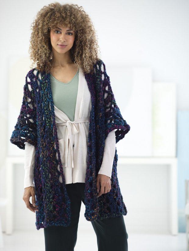easy free crochet kimono pattern
