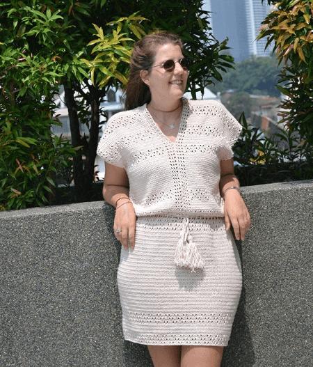 Easy Crochet Dress Pattern by Knitting w Chopsticks