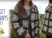 easy tutorial Crochet Hooded Gypsy Jacket Free Pattern