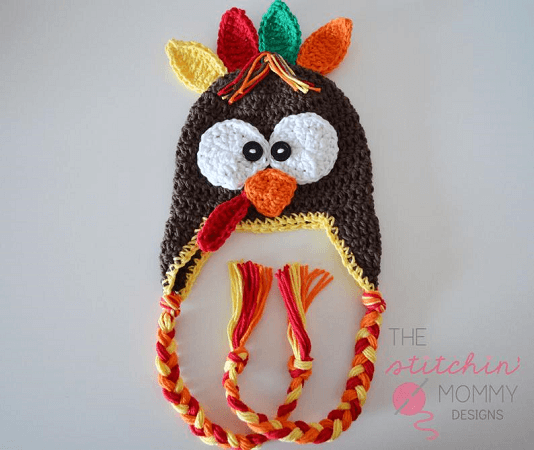 Free Crochet Turkey Hat Pattern by The Stitchin Mommy
