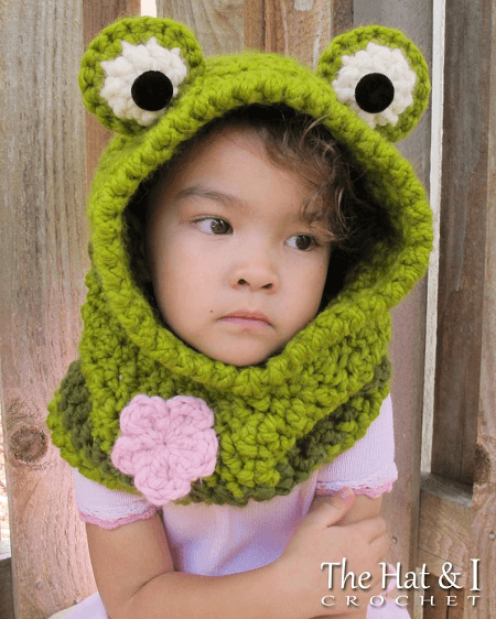 Frog Hooded Cowl Crochet Pattern by The Hat And I