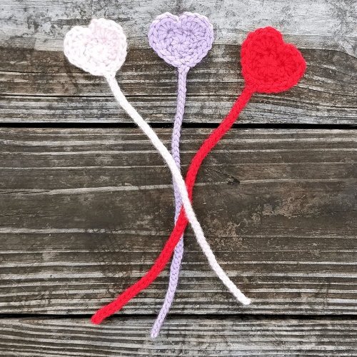 Heart Bookmark Crochet Pattern by HCK Crafts