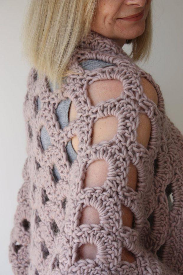 kimono style cardigan Crochet Cocoon Cardigan Pattern