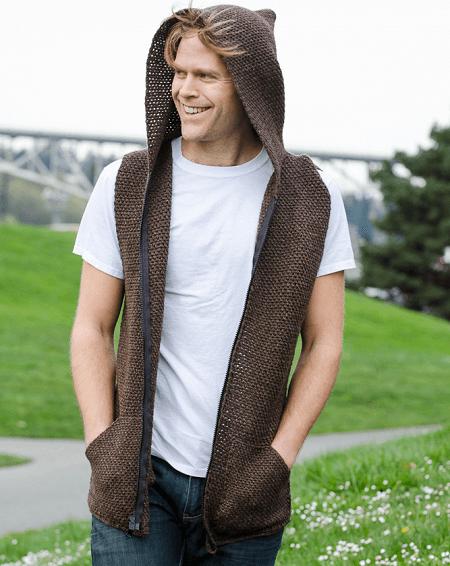 Men's Hooded Vest Crochet Pattern by Shibaguyz Designz