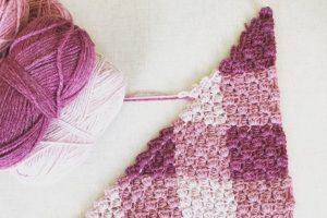 one stitch Corner to Corner Crochet Baby Blanket