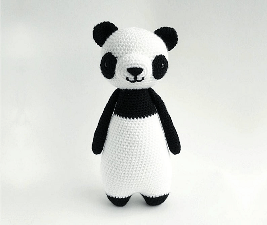 Panda Bear Crochet Amigurumi Pattern by Little Bear Crochets
