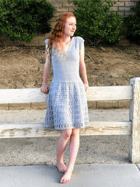 Parisian Dress Crochet Pattern by Desert Blossom Crafts