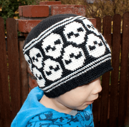Skull Beanie Crochet Pattern by Knit And Crochet Evr Aft