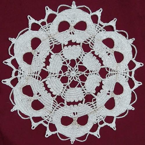 Skull Doily Crochet Pattern by Lekden