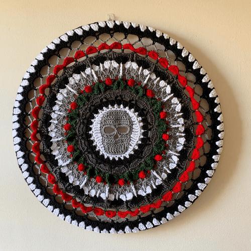 Skull Mandala Crochet Pattern by Dolly Daydream Crochet