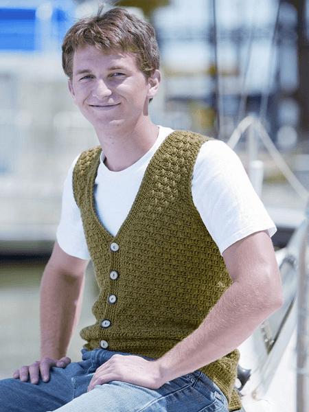 Swish Men's Vest Crochet Pattern by Crochet Kim