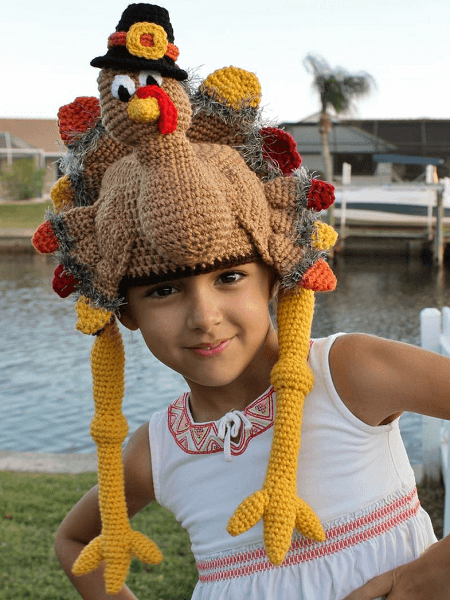 Thanksgiving Turkey Crochet Hat Pattern by Top Stitches Crochet