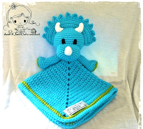 triceratops crochet comforter pattern