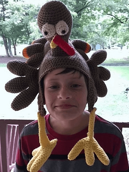 Turkey Hat Crochet Pattern by Sharpin Designs