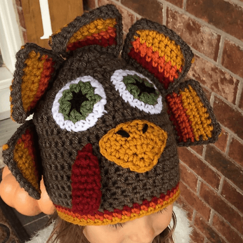 Turkey Hat Free Crochet Pattern by Elizabeth Ruth