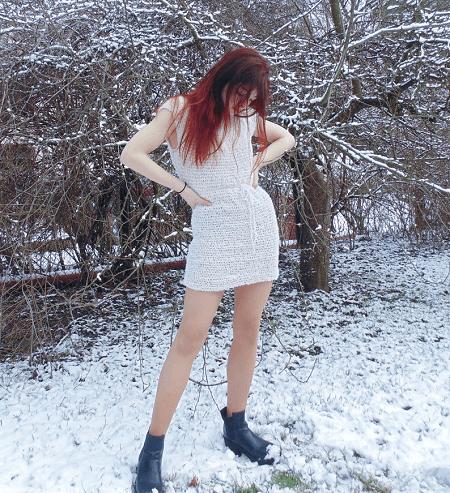 Winter Snow Dress Crochet Pattern by If Crochet Patterns