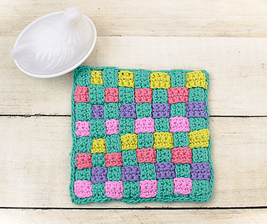 Woven Potholder Crochet Pattern by Petals To Picots