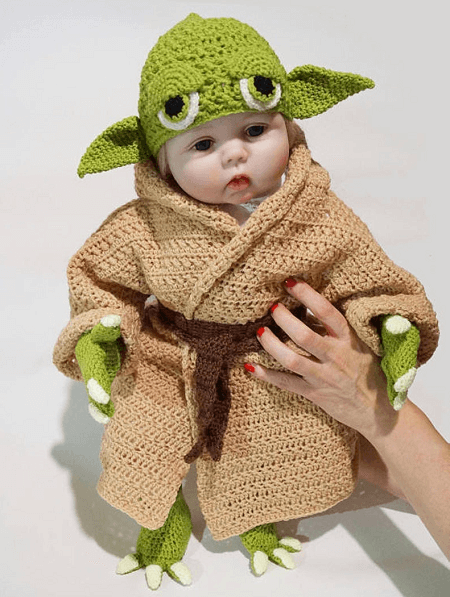 Yoda Baby Costume Crochet Pattern by Step By Step Patterns