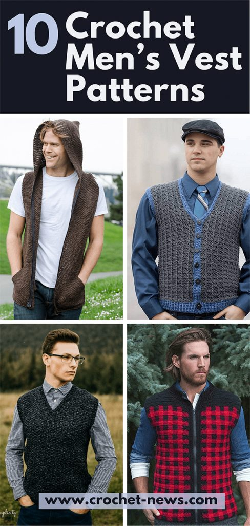 10 Crochet Men's Vest Patterns
