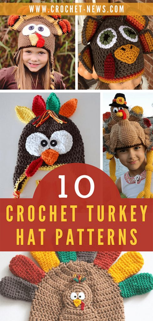 10 Crochet Turkey Hat Patterns
